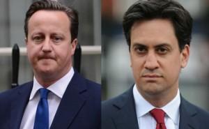 Cameron e Miliband