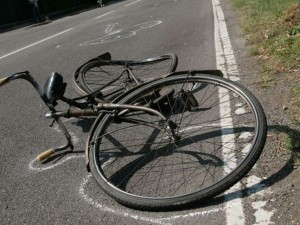 Incidente di un ciclista
