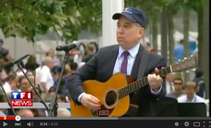 Paul Simon nel 2011 a Ground Zero