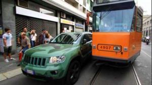 Tram bloccato