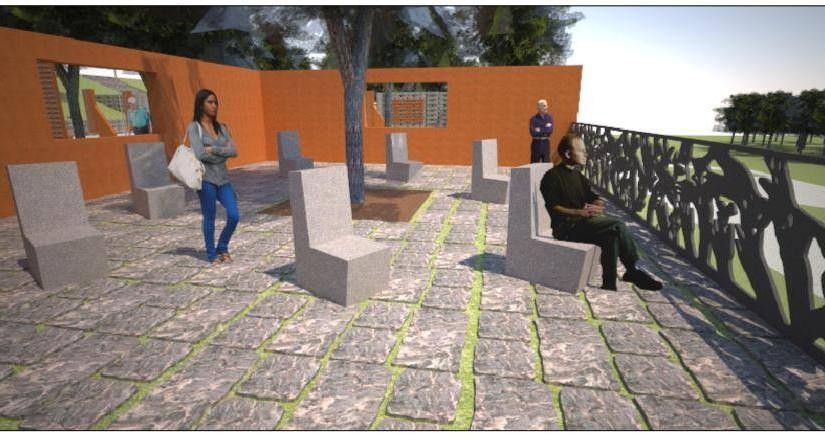 Rendering progetto Giardino dei Giusti