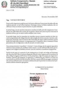 lettera di Marco Parma