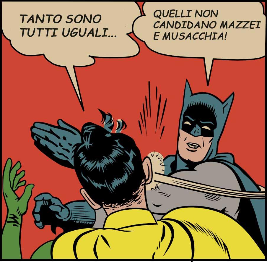 Batman Slap Mazzei Musacchia