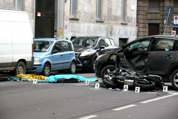 Incidente automobilistico a Milano
