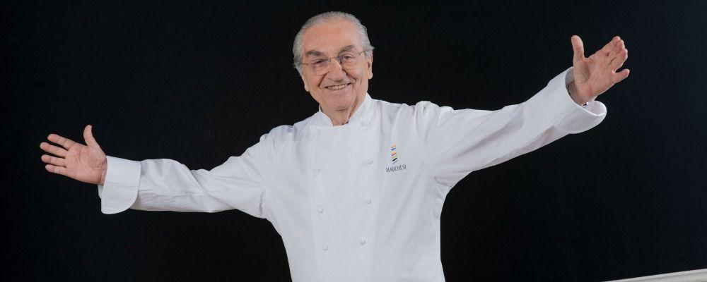 Gualtiero Marchesi e l'oro acchiappacitrulli sul risotto