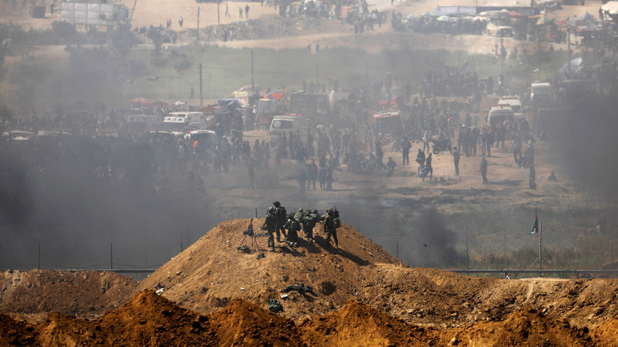 IDF at Gaza border for Land Day riots
