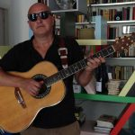 Alberto Biraghi with his 1657 Ovation Anniversary