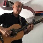 Alberto Biraghi with his Ovation 1997 Collectors
