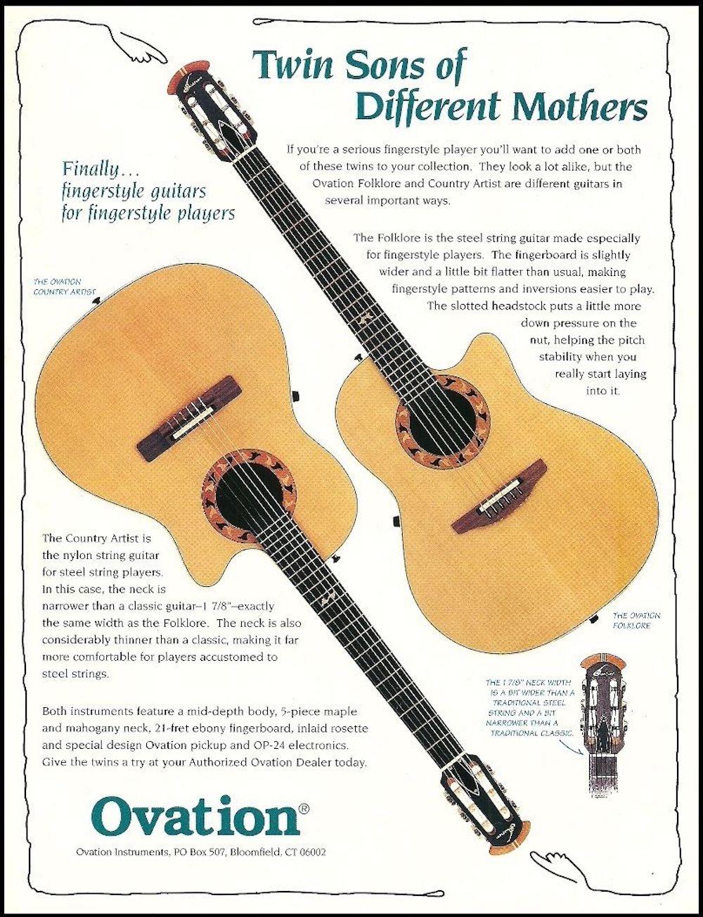 Ovation Folklore ad