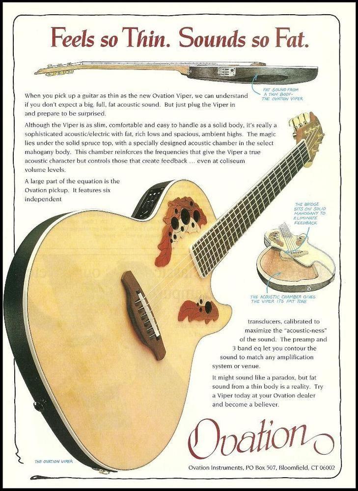 Ovation Viper 1994 advertising