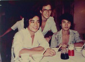 Con 溫雄 e Lee Yun Fook nel 1979
